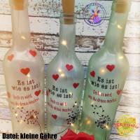 Flaschenlicht, Leuchtflasche, LED-Flasche, Lichtdekoflasche, Dekoflasche, Lichtflasche, beleuchtete Flasche Bild 1