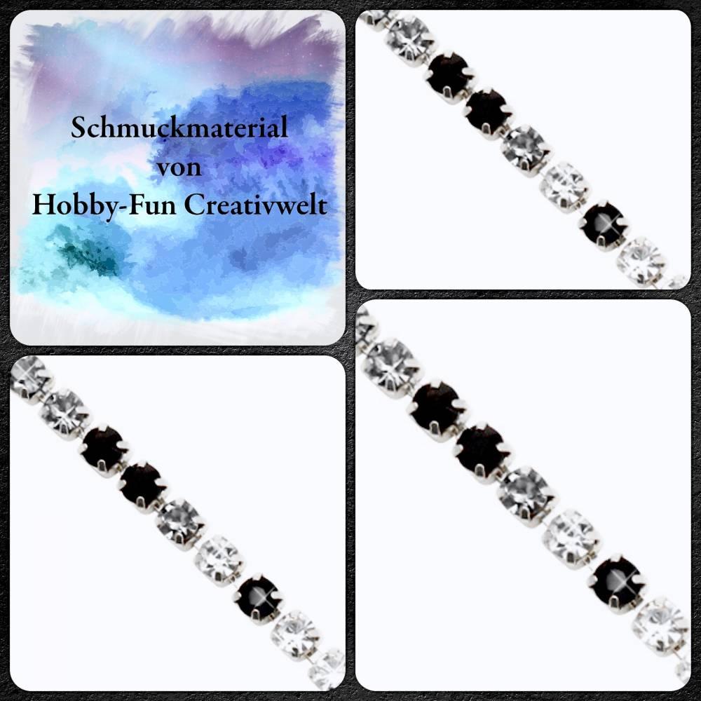 HFC28565-GK: Silberfarbene Strasskette Bild 1