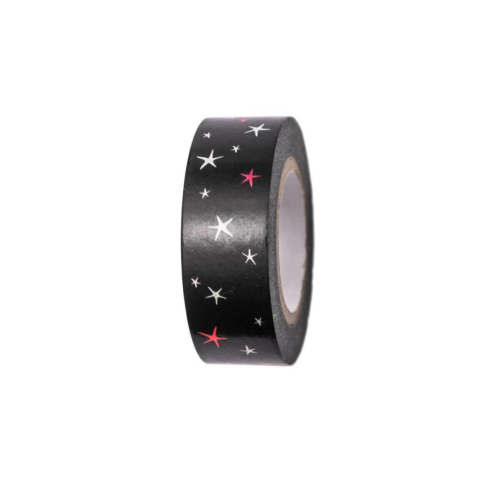 Klebeband schwarz Sterne Bild 1