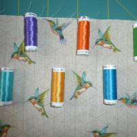 Kulturbeutel Kolibri, individualisierbar, Geschenk Bild 6