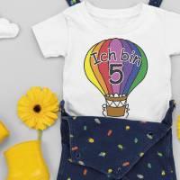 Plotterdatei Geburtstag, Heißluftballon mit Zahl, Serie 15 Bild 1