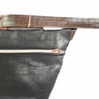 Gürteltasche, Crossbodybag aus schwarzbraunem Leder  Bild 2