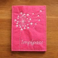 Impfpasshülle rosa weiß Pusteblume Bild 1
