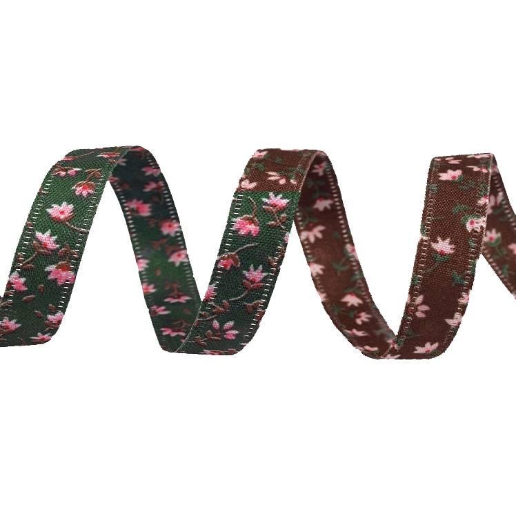 Dekoband 5m Blumen 10 mm Bild 1