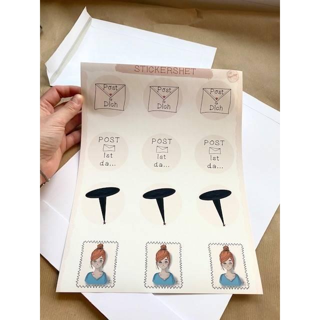 STICKERSHEET Versand / Post Aufkleber // Briefaufkleber / Briefmarke Bild 1