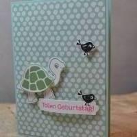 Verspäteter Geburtstagsgruß mit Schildkröten Bild 1
