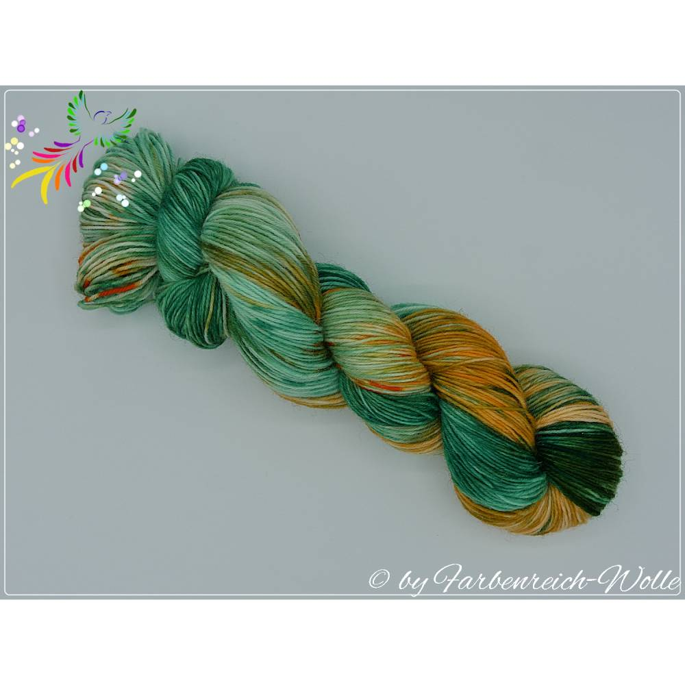 "Sockenwolle, handgefärbte Wolle - ""Galway girl"" - 4-fädig - Unikat !! Bild 1"