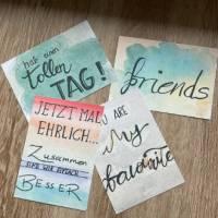4 Postkarten set Aquarell / Freundeskarten // Geschenk Karten/ Grußkarten Bild 1