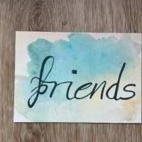 4 Postkarten set Aquarell / Freundeskarten // Geschenk Karten/ Grußkarten Bild 5