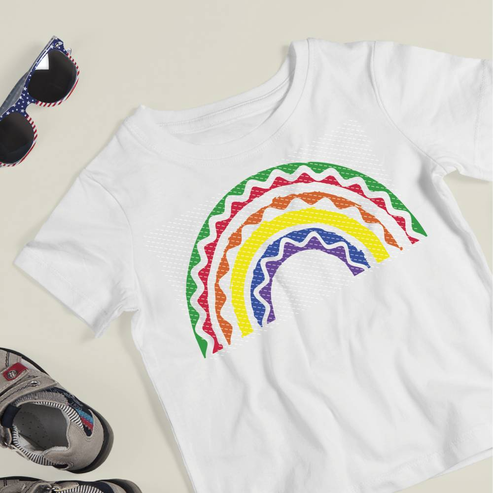 Plotterdatei Regenbogen Wellen Bild 1