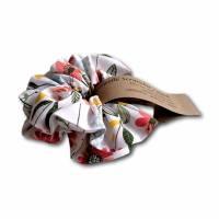 Scrunchie Haargummi Haarband im Set 2 Stück Baumwolle florale Motive Bild 2