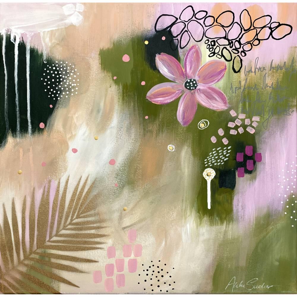 """""""KISS THE SUMMER 2"""" 40 x 40 cm Acrylbild  Bild 1"""