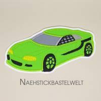 Applikation Aufnäher Rennauto Rennwagen Auto Racecar (M111) Bild 1