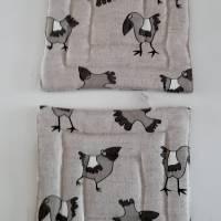 GESCHENKSET/KÜCHENSET, Motiv Vögel, Material aus Leinen und Baumwolle Bild 8