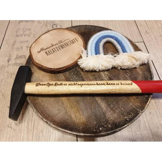 Personalisierter Hammer / individuelle Lasergravur / Geschenkidee für Vatertag, Geburtstag usw.. Bild 1