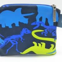 Geldbörse Dino, Dinosaurier, Geschenk Einschulung, Schulanfang Bild 1