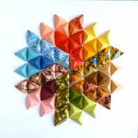 Buntes Mandala // Origami aus handmarmoriertem Papier im Objektrahmen Bild 3