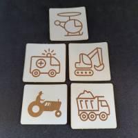 """Set Kunstlederlabel, 5 Teile """"Fahrzeuge"""" Bild 2"""