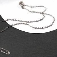 Kette, 42 cm, silberfarben 1 Stück, Metall Bild 2