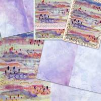 DIY Grafik-Set Digitales Papier für Innenseiten (Signaturen) und Karten für Junk-Journals, Motiv *Simone 001* Bild 1