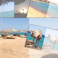 Digitales Papier *Urlaub am Meer 001-B*, DIY Grafik-Set für Signaturen (Innenseiten) für Junk-Journals, von Alanja Bild 1