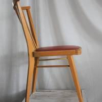 Rockabilly-Stuhl mit rotem Sitz 50er Jahre Sprossenstuhl Bild 3