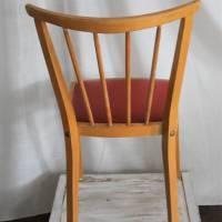 Rockabilly-Stuhl mit rotem Sitz 50er Jahre Sprossenstuhl Bild 6