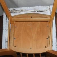 Rockabilly-Stuhl mit rotem Sitz 50er Jahre Sprossenstuhl Bild 7