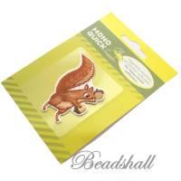 Bügelbild Eichhörnchen mit Eicheln Dekoration Applikation Bild 2
