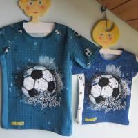 Öko Baby Kickers for Life Fußball T-shirt Top Motiv  Gr. 92 oder 128 in anderen Größen oder Farbenzu bestellen Bild 1