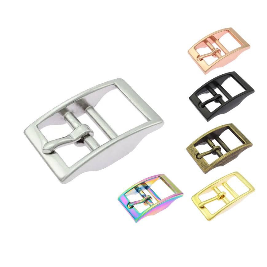 Doppelsteg Schnalle  16, 20mm Metall Schwarz Rosegold Silberfarben Goldfarben Altmessing Bild 1