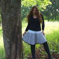 Tellerrock Ulrica Punkte Dots Square Dance/Line Dance Gr. L = 44/46 UNIKAT Handmade Bild 1