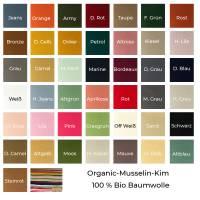 Organic-Musselin-100 % Bio Baumwolle-50cm Schritte-Meterware Bild 2