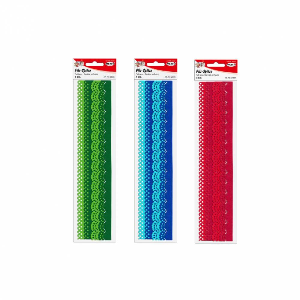 Filzspitze Rot, Blau , Grün Bild 1