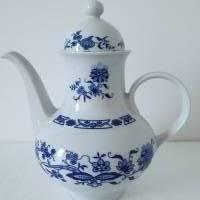 Kaffeekanne, Porzellan, Zwiebelmuster, 80er Jahre, Ilmenau Bild 1