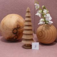 gedrechselter Holzbaum Holzbäumchen Baum Deko Weihnachtsdeko Bild 10