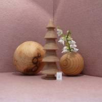 gedrechselter Holzbaum Holzbäumchen Baum Deko Weihnachtsdeko Bild 8