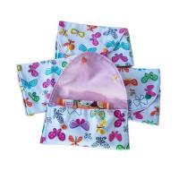 kleine Stofftasche mit Schmetterlingen, nachhaltiger Geschenkebeutel, Bild 1