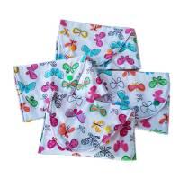 kleine Stofftasche mit Schmetterlingen, nachhaltiger Geschenkebeutel, Bild 2