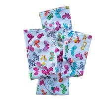 kleine Stofftasche mit Schmetterlingen, nachhaltiger Geschenkebeutel, Bild 3