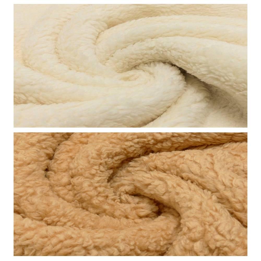 Teddy Plüsch Baumwollkrimmer Plüschstoff - 0,5 m Schritte- Meterware-430g/qm 80% Baumwolle Stoffe Bild 1