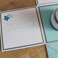 """Explosionsbox zur Hochzeit, Geldgeschenkverpackung """"Hochzeitstorte"""" aus der Manufaktur Karla Bild 10"""
