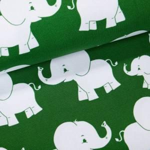 """Jersey-Stoff Elefanten Elefant """"matti #forest"""" (0,5 m) grün Bild 2"""