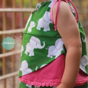 """Jersey-Stoff Elefanten Elefant """"matti #forest"""" (0,5 m) grün Bild 4"""