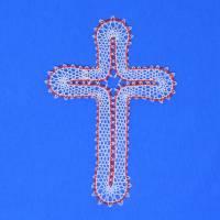 """geklöppeltes Kreuz """"Liebe"""" Bild 1"""