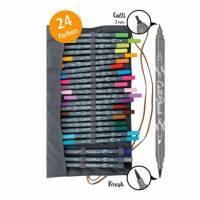 Kalligrafie Brush-Pens 24 Farben Bild 1