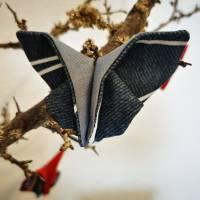 Schmetterlinge aus Baumwollstoff - Dekoration für Sommer oder Frühling Bild 6