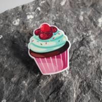 Cupcake ,Törtchen,    Acryl, Brosche, Anstecker  Bild 1