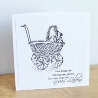 """Glückwunschkarte zur Geburt """"Vintage"""" aus der Manufaktur Karla Bild 1"""