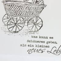 """Glückwunschkarte zur Geburt """"Vintage"""" aus der Manufaktur Karla Bild 4"""